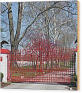 Calumet Farm Entrance Wood Print