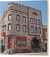 Calumet Hotel-1887 In Pipestone-minnesota  Wood Print