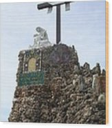 Calvary At Grotto Of Redemption Wood Print