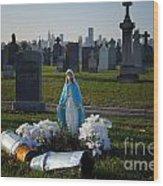 Calvary Cemetery Wood Print