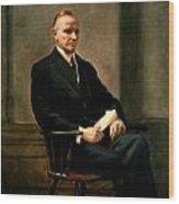 Calvin Coolidge Presidential Portrait Wood Print