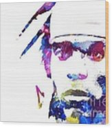 Cam Newton - Doc Braham - All Rights Reserved Wood Print