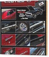 Camaro-drive - Poster Wood Print