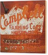 Cambell Farming Corperation Hardin Montana Wood Print