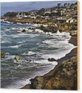 Cambria Coastline Wood Print