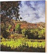 Cambria Farmland Wood Print