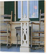 Cambria Squibb House Rocking Chairs Wood Print