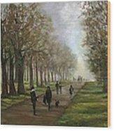 A Walk In Hyde Park London Wood Print