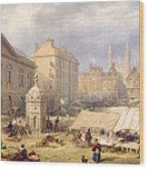 Cambridge Market Place, 1841 Wood Print