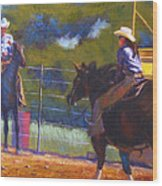 Camden Cowboy And Cowgirl Wood Print