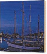 Camden Harbor Maine At 4am Wood Print