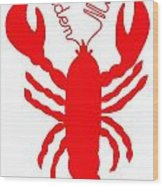 Camden Maine Lobster With Feelers 20150207 Wood Print