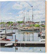 Camden Marina Wood Print