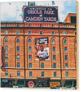 Camden Yards Wood Print