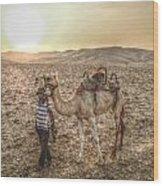 Camel Wood Print