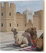 Camels Tunis Wood Print