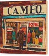 Cameo Dress Shop Wood Print