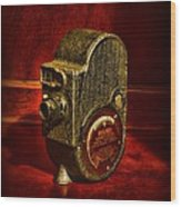 Camera - Bell And Howell Film Camera Wood Print