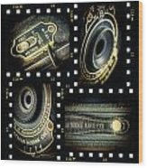 Camera Collage Wood Print