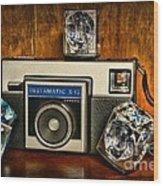 Camera - Kodak Instamatic Wood Print