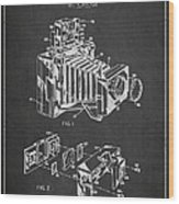Camera Patent Drawing From 1963 Wood Print