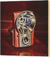 Camera - Vintage Brownie Starflash Wood Print