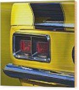 Camaro Taillight Wood Print