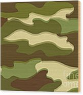 Camo Wood Print