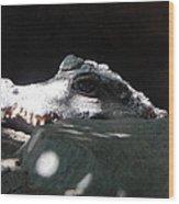 Camo-croc Wood Print