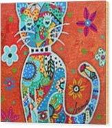 Camo El Gato Wood Print