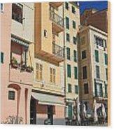 Camogli - Homes And Promenade Wood Print