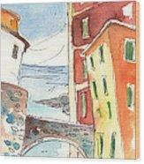 Camogli In Italy 04 Wood Print