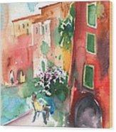 Camogli In Italy 12 Wood Print