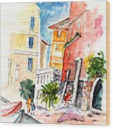 Camogli In Italy 13 Wood Print