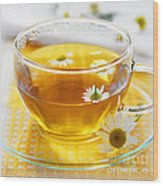 Chamomile Tea Wood Print