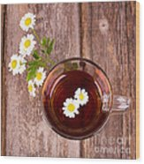 Camomile Tea Wood Print by Jane Rix