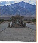 Camp Manzanar  Wood Print