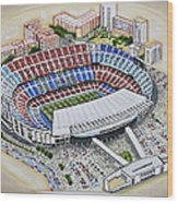 Camp Nou - Barcelona Fc Wood Print