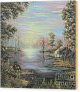 Camp On The Bayou Wood Print