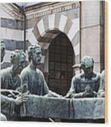 Campari Grave Marker Detail IIi Disciples Last Supper Wood Print