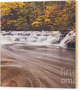 Campbell Falls In Autumn Wood Print