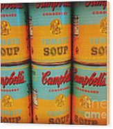 Campbell's Soup Retro Andy Warhol Wood Print
