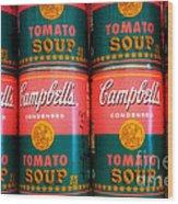 Campbell's Tomato Soup Pop Art Wood Print
