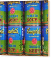 Campbell's Tomato Soup Retro Andy Warhol Wood Print