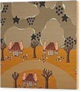 Campers Wood Print