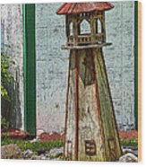 Campers Lighthouse Wood Print