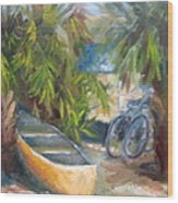 Campground Wood Print