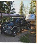 Camping 42 Wood Print