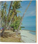 Camping In Tahiti Wood Print