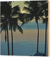 Camping Out Hawaii Style Wood Print